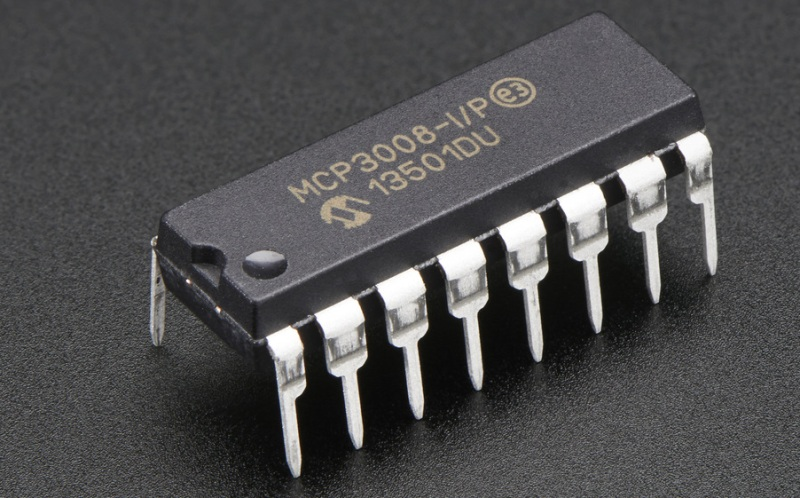 Convertisseur analogique-numérique MCP3008