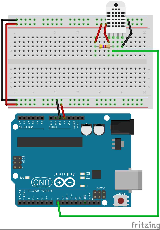 connexion DHT11/22 arduino