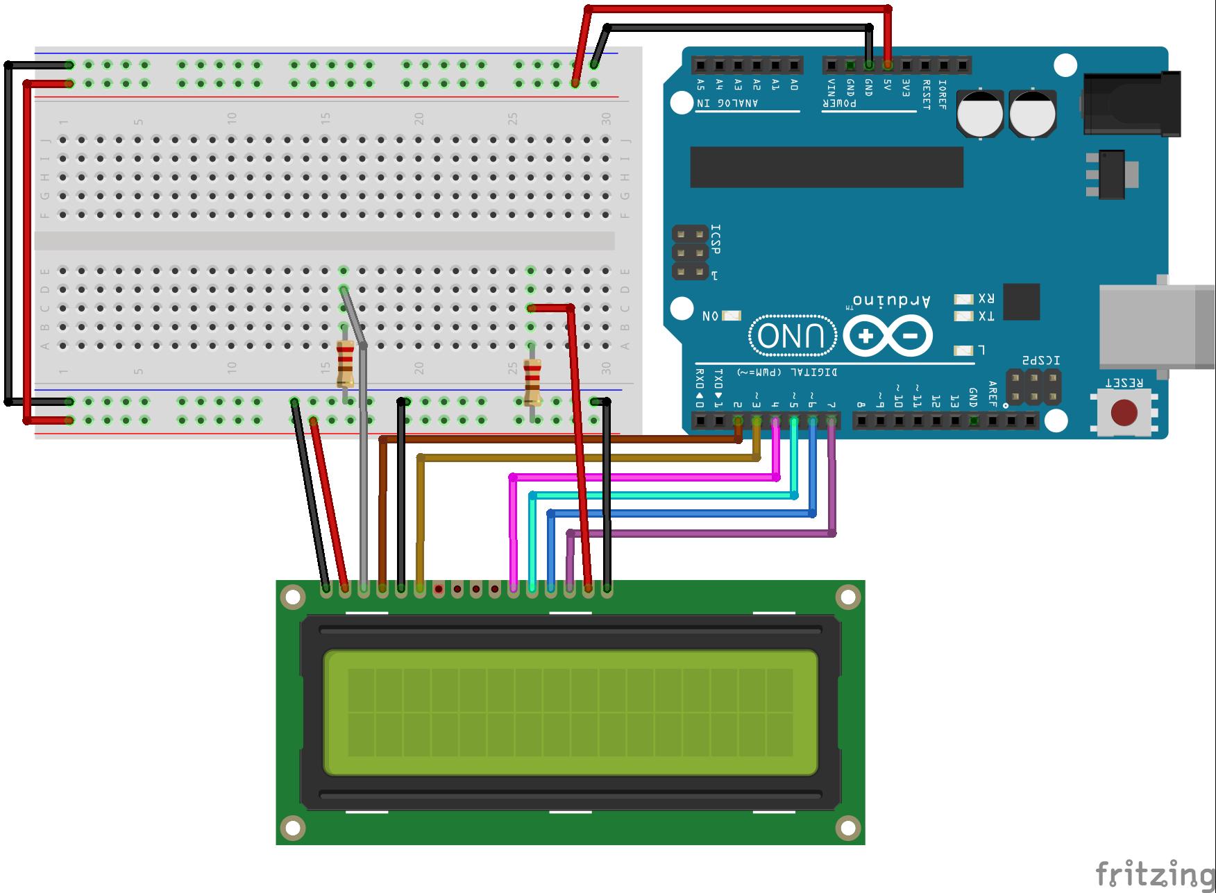 tutoriel   connection lcd texte et arduino    atmega328p
