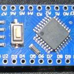 Clone chinois d'un Arduino Nano V3, vue de dessus