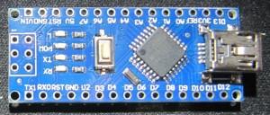 (HD)Clone chinois d'un Arduino Nano V3, vue de dessus