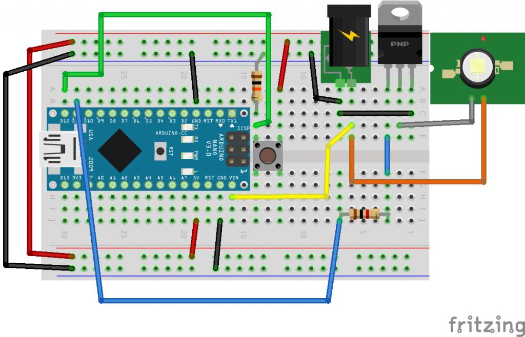 contrôleur de LED simple sur arduino via un TIP120