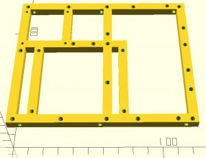 Modèle 3D du support de l'électronique de R.Hasika