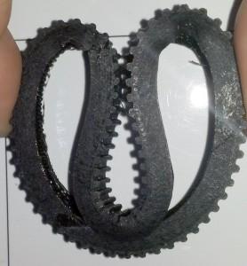 le pneu de R.Ian plié