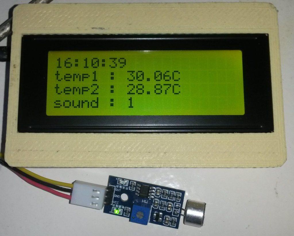 Capteur de son à sortie binaire, à un moment ou il n'y a pas de son, la sortie est 1.