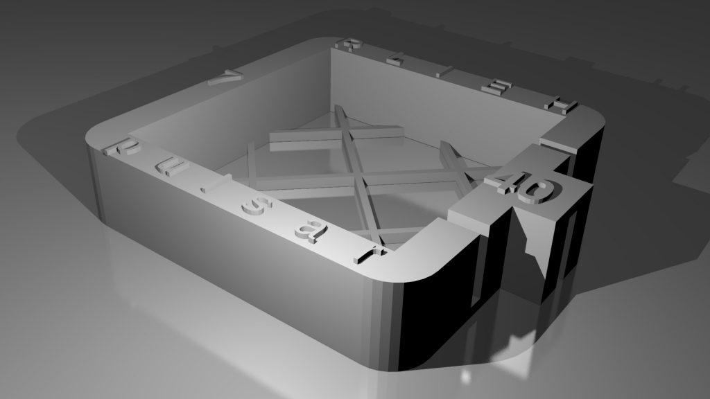 base du Double Pulsar en version 40x40x7 pour fabriquer un Twinstar DIY