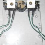 installation des détecteurs de contact et du berceau avant.