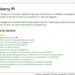 Liste de tutoriels Raspberry pi sur le wiki